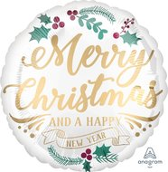 Lovedeco - kerst ballon; Merry christmas and a happy new year