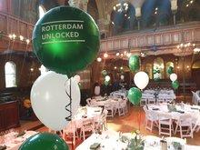 Lovedeco - Persoonlijk bedrukte standaard ronde ballon, Rotterdam connected